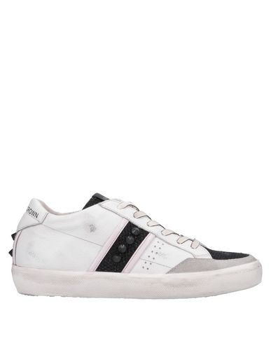 Leather Sneakers Crown Leather Crown Blanc Sneakers dw1x1qP