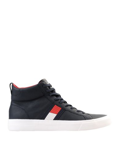 f0ee482e7443 Tommy Hilfiger Flag Detail High Leather Sneak - Sneakers - Men Tommy  Hilfiger Sneakers online on YOOX United States - 11567841