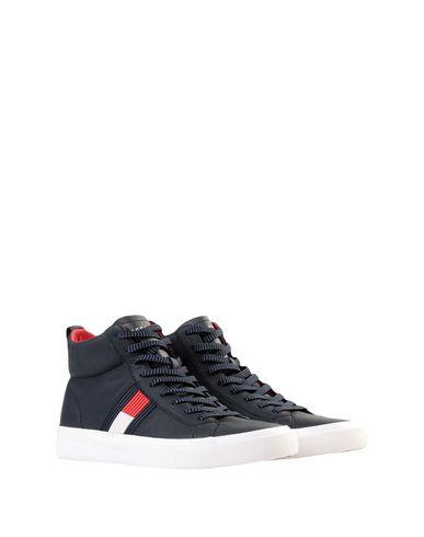užijte si dopravu zdarma profesionální prodej nový koncept Tommy Hilfiger Flag Detail High Leather Sneak - Sneakers ...