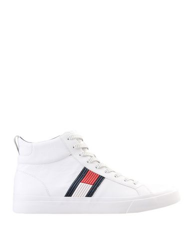 26e744e366b3 Tommy Hilfiger Flag Detail High Leather Sneak - Sneakers - Men Tommy ...