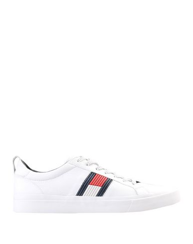 online retailer b0b8f d305d Tommy Hilfiger Flag Detail Leather Sneaker - Sneakers - Men Tommy ...