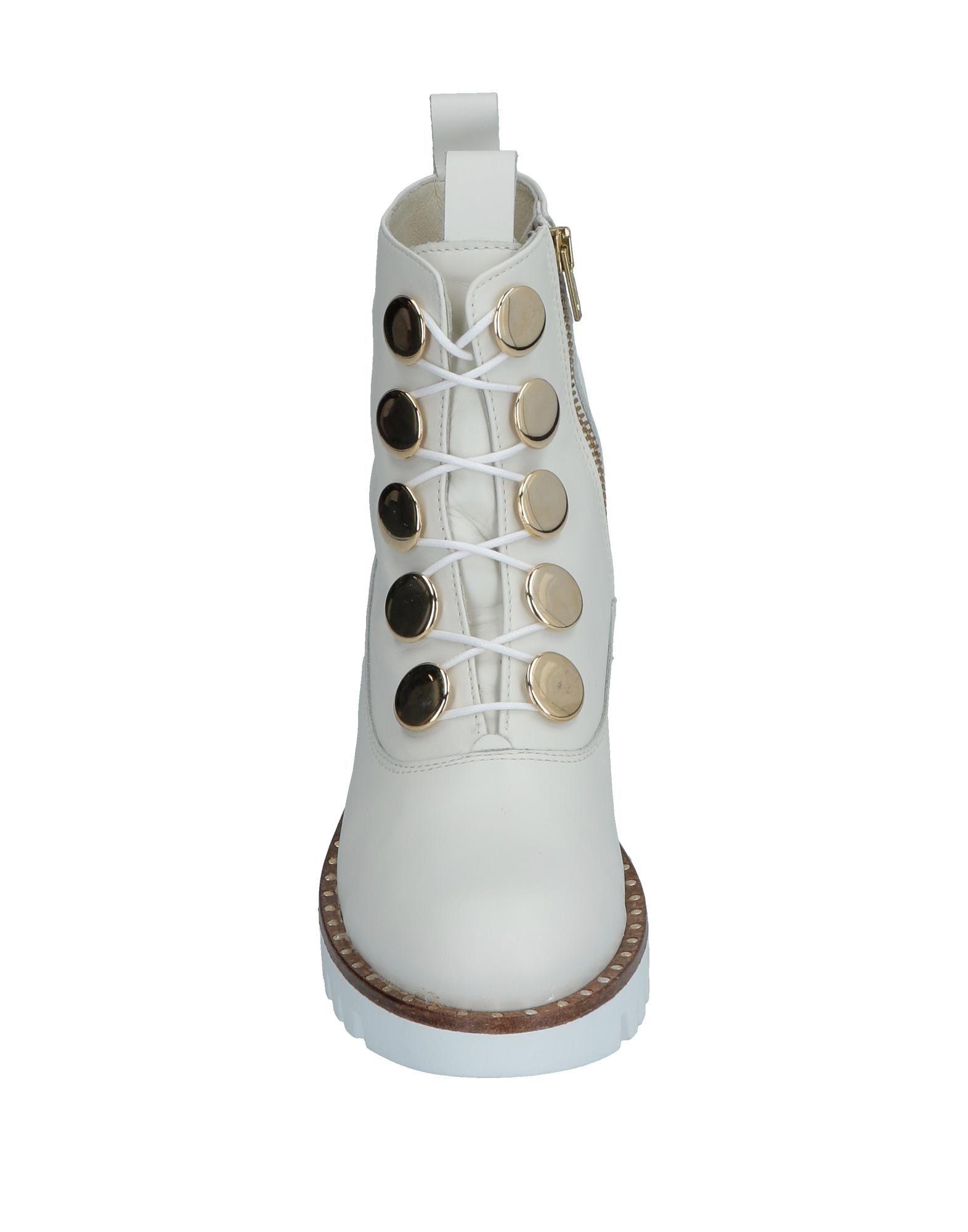 Bottines Pas Chaussures Femme Spaziomoda Bottine Blanc dtnq440