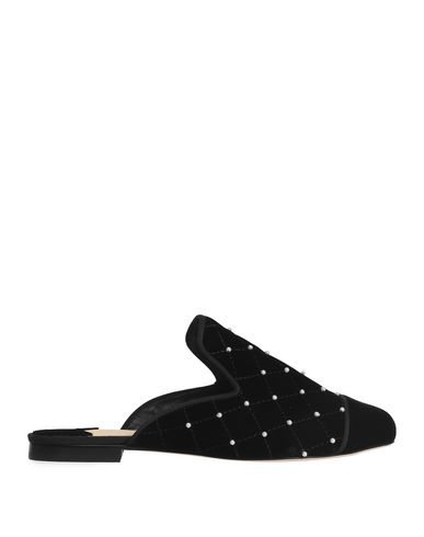 ISA TAPIA Women'S Charleen Embellished Quilted Velvet Mules in Black