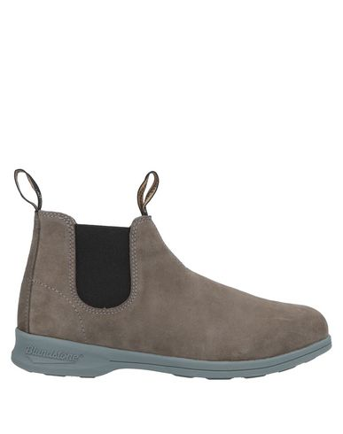 BLUNDSTONE Taupe Suede Low Boot in Khaki