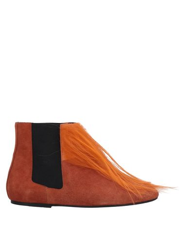 SUSANA TRACA Ankle Boots in Orange