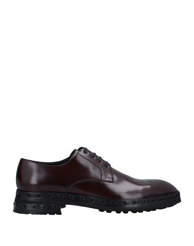 Dolce & Gabbana Laced Shoes In Maroon