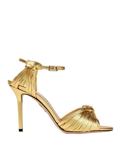 Charlotte Olympia Sandals In Gold