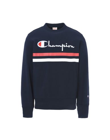 Champion Reverse Weave Crew Neck Sweatshirt Colorblock Logo ...