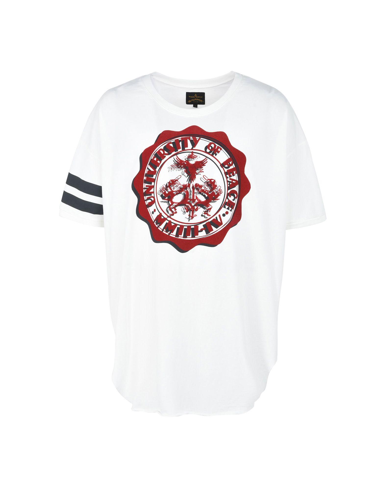 T-Shirt Vivienne Vivienne T-Shirt Westwood Anglomania Nuovo Borsagy T-Shirt University Of Peace Print - Uomo - 12103439US d46dec