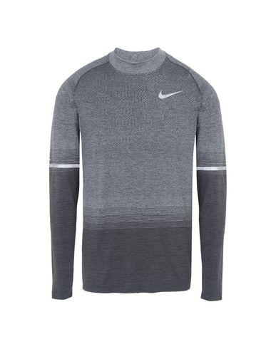 8e0c551ae694 Nike Dri Fit Knit Top Long Sleeve Mock Grd - Sport T-Shirt - Men ...