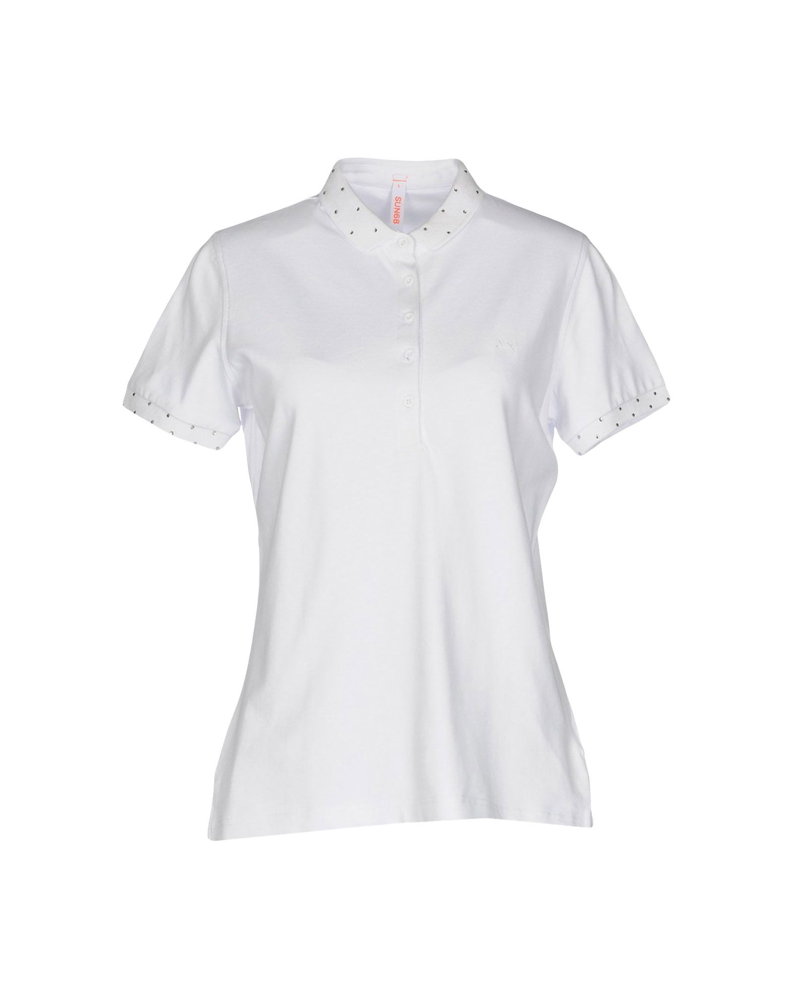 Sale Excellent New Arrival Black polo with rhinestones Sun 68 Buy Cheap Perfect Cheapest Price Sale Online MFe0dGWx
