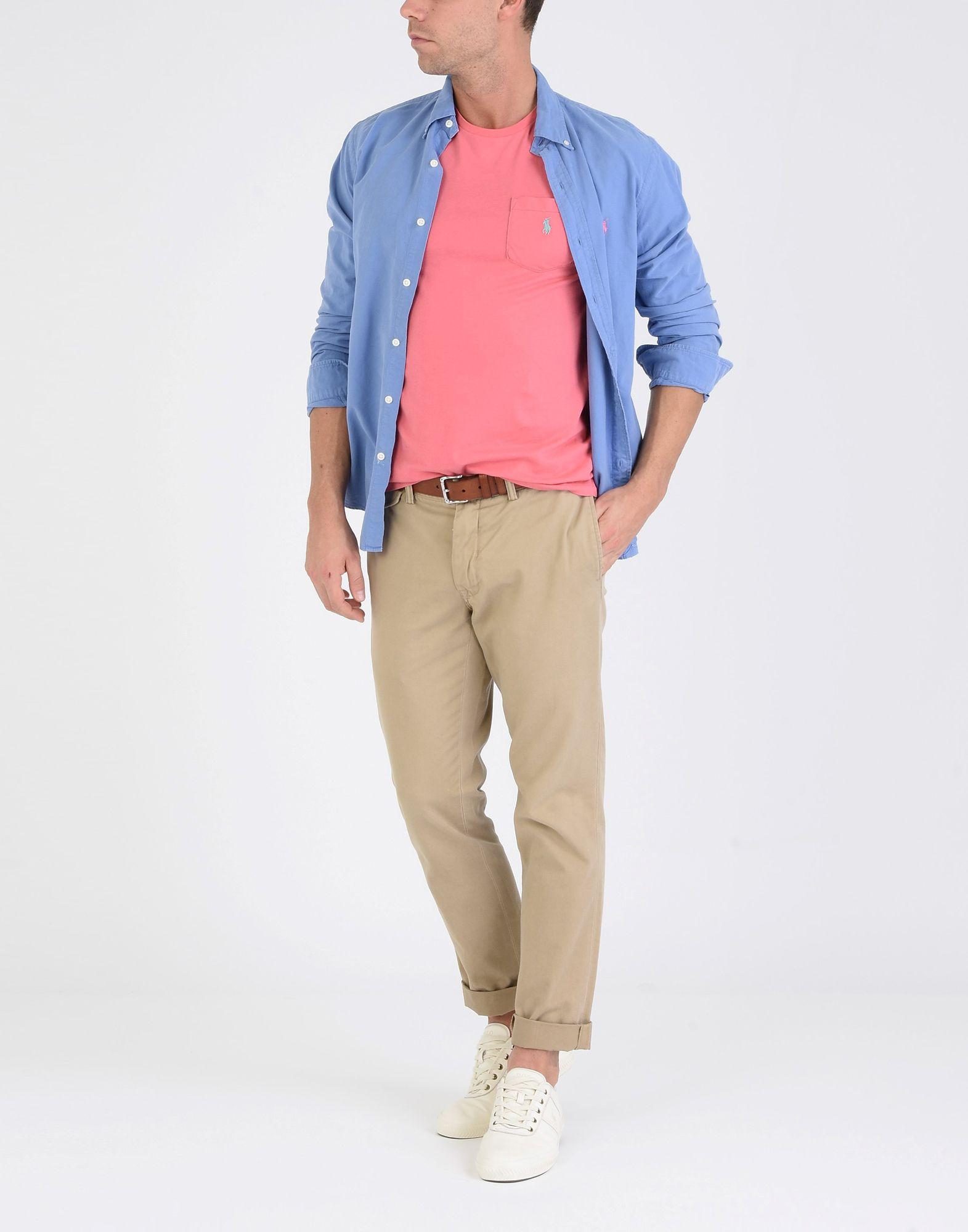 T-Shirt Polo Ralph Lauren Custom Fit Shirt T Shirt Fit - Uomo - 12121399LH 5b880e