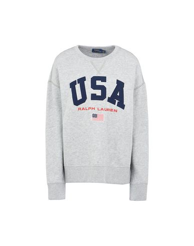 8d8c3dde35a72a Polo Ralph Lauren Usa Flag Light Weight Fleece - Sweatshirt - Women ...