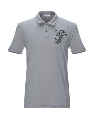 Versace Collection Men/'s White Short Sleeve Polo Shirt
