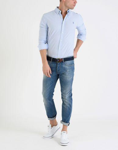 POLO RALPH LAUREN Oxford Pique Polo Shirt Gestreiftes Hemd