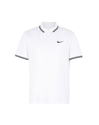 nike white collar t shirt