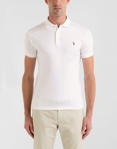 e534fa3c79a41 Polo Ralph Lauren Slim Fit Pima Polo - Polo Shirt - Men Polo Ralph ...