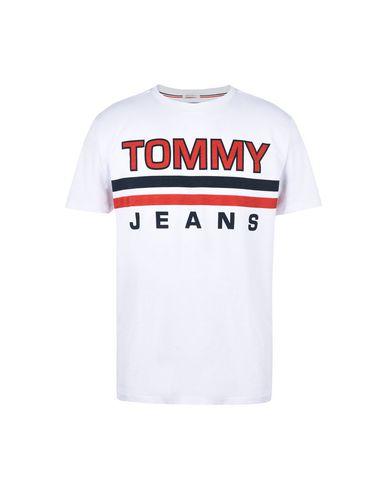 tommy jeans tjm stripe tee - t-shirt - men tommy jeans t-shirts