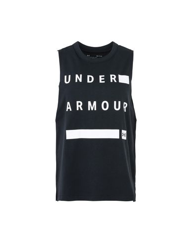 UNDER ARMOUR MUSCLE TANK LINEAR WORDMARK Top