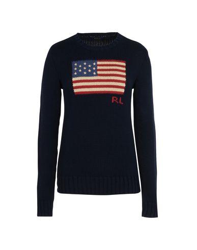 fe208d0887ec Polo Ralph Lauren Flag Cotton Sweater - Jumper - Women Polo Ralph ...