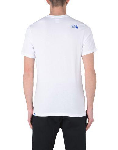 THE NORTH FACE M S/S FINE TEE TNF WHITE/TURKI Sportliches T-Shirt