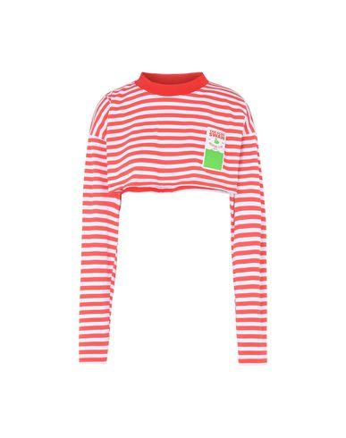 7c3e2cd125 Gcds _Rd, Striped Crop Top 03 Red - T-Shirt - Women Gcds T-Shirts ...
