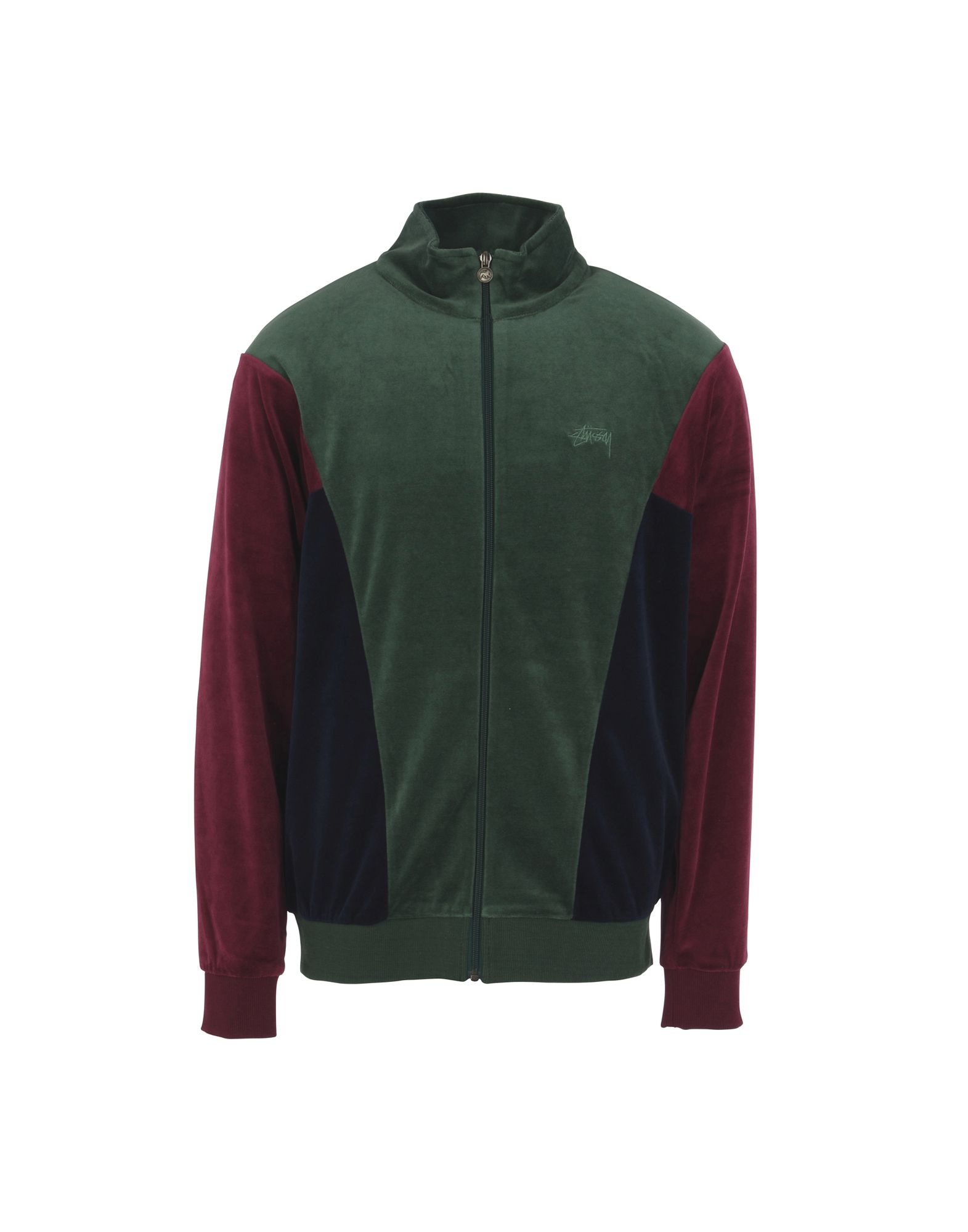 Felpa Stussy Velour Paneled Track Jacket - Donna - Acquista online su