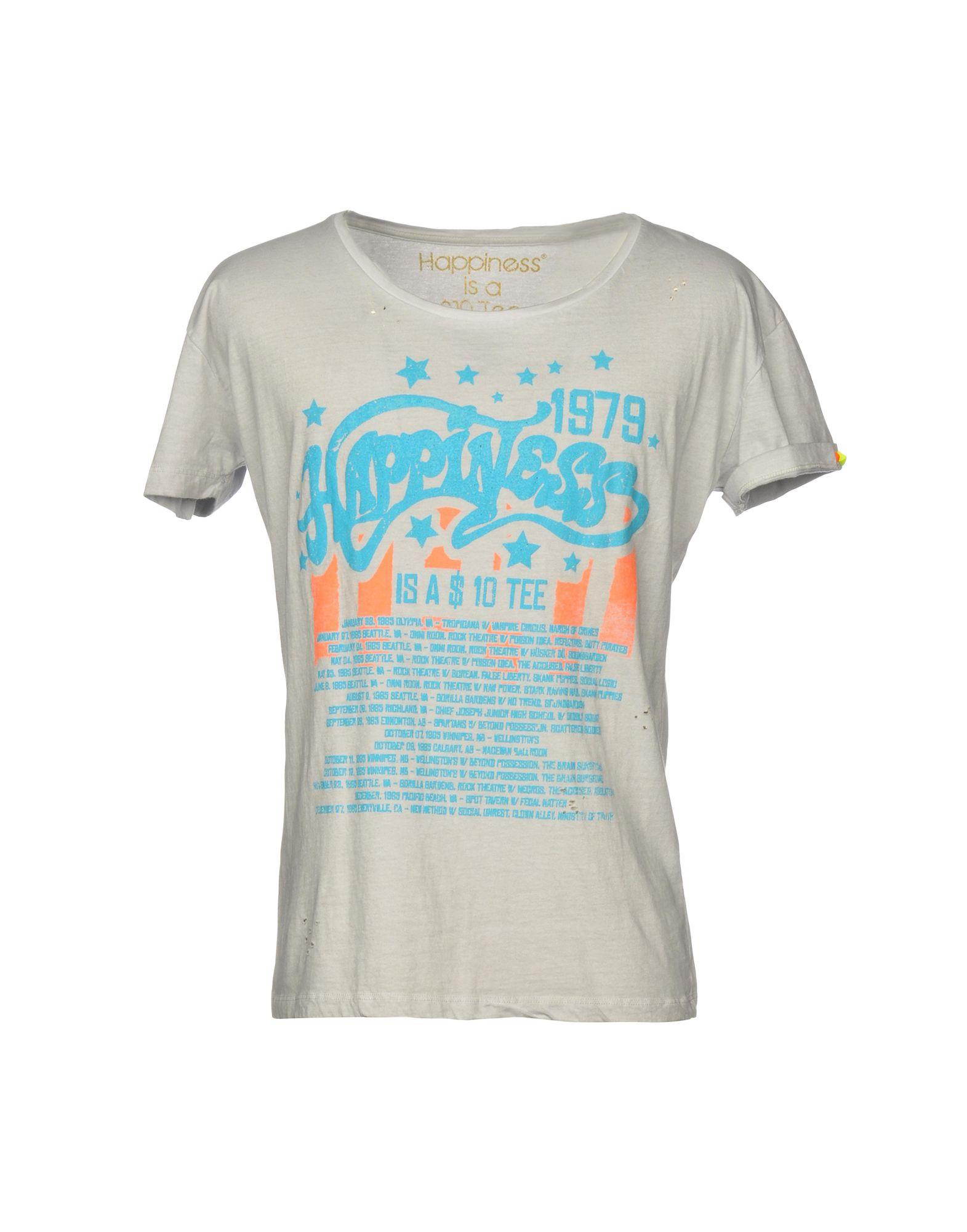 T-Shirt T-Shirt Happiness uomo - 12191085IW