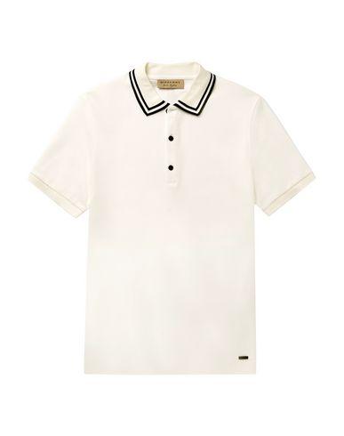 white burberry polo shirt