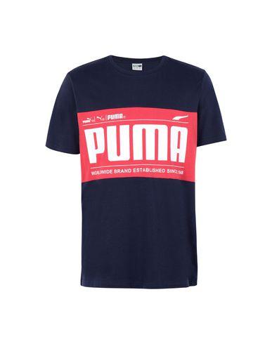 Camiseta Puma Graphic Logo Block Tee Peacoat - Hombre - Camisetas ... 7cae08a345217