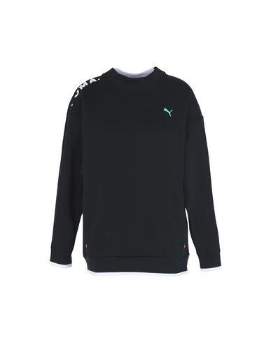 Cotton Chase Women Puma Crew Sweatshirts Black Sweatshirt POxEx