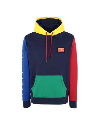 Hoodie Color Ralph Homme Sweat Shirt Blocked Hi Tech Polo Lauren 64WqWnT