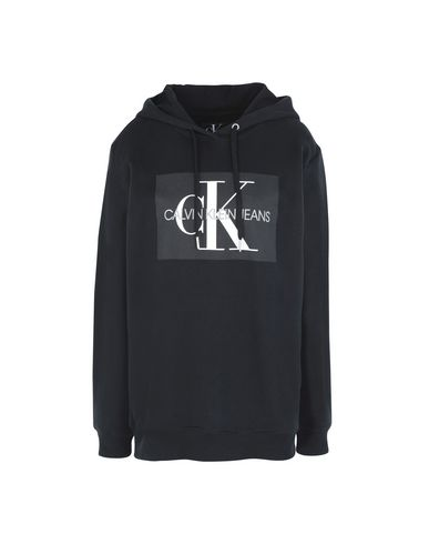 33325a0f78601 Calvin Klein Jeans Monogram Box Relaxed - Hooded Sweatshirt - Women ...