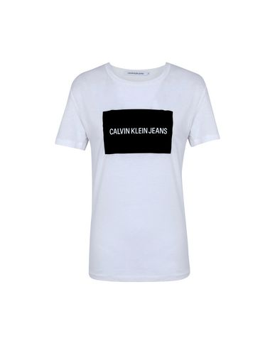 T Shirt Calvin Klein Jeans Institutional Box Re Femme T Shirts