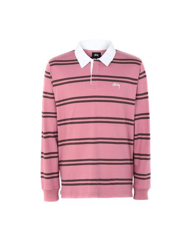 24b88091d06 Stussy Desmond Stripe Ls Rugby - Polo Shirt - Men Stussy Polo Shirts ...