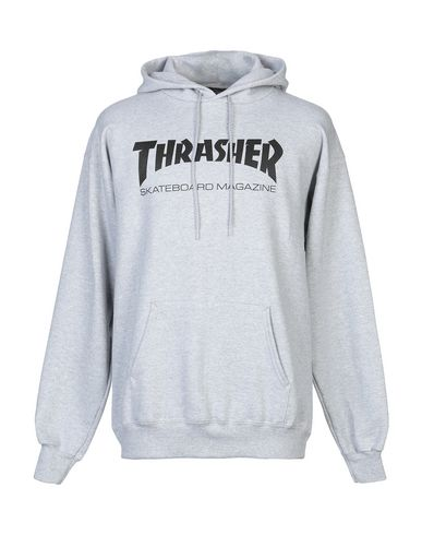 THRASHER Hooded Sweatshirt in Light Grey