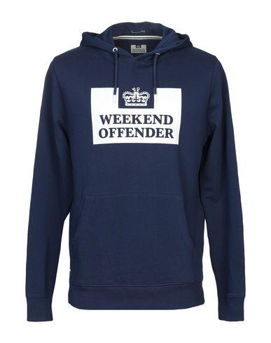 WEEKEND OFFENDER Hooded Sweatshirt in Dark Blue