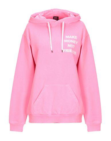 MAKE MONEY NOT FRIENDS Hooded Sweatshirt in Fuchsia