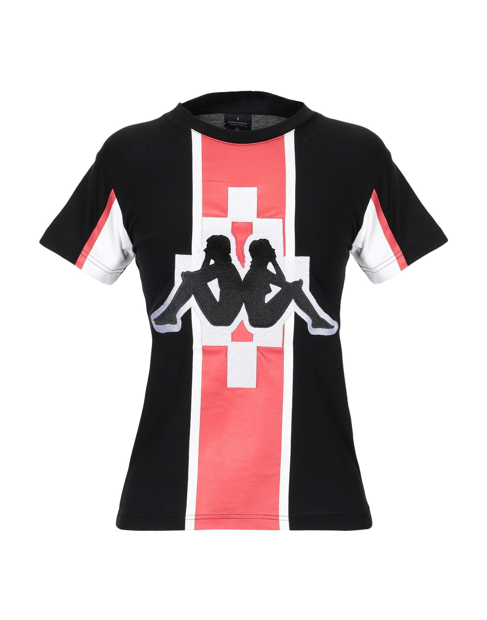 T-Shirt Marcelo Burlon X Kappa damen - 12276552BD