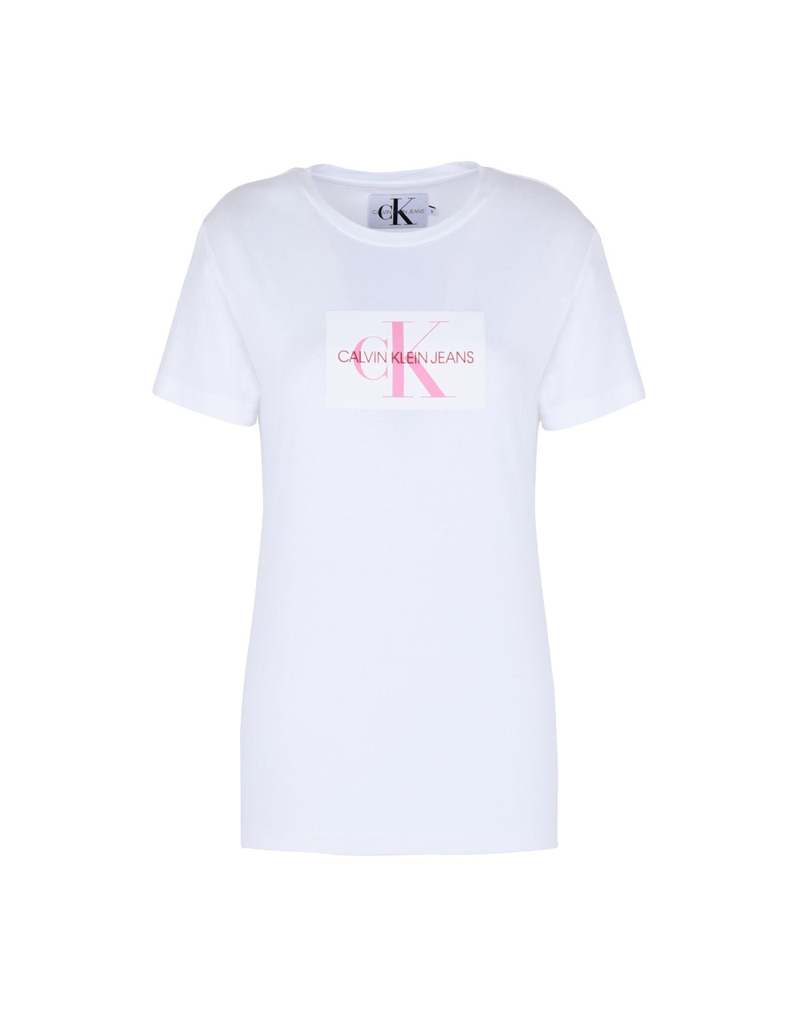 851cf461f7764 Slim Camiseta Mujer Camisetas Klein Jeans Calvin Flock Monogram nxwxqUHCaX