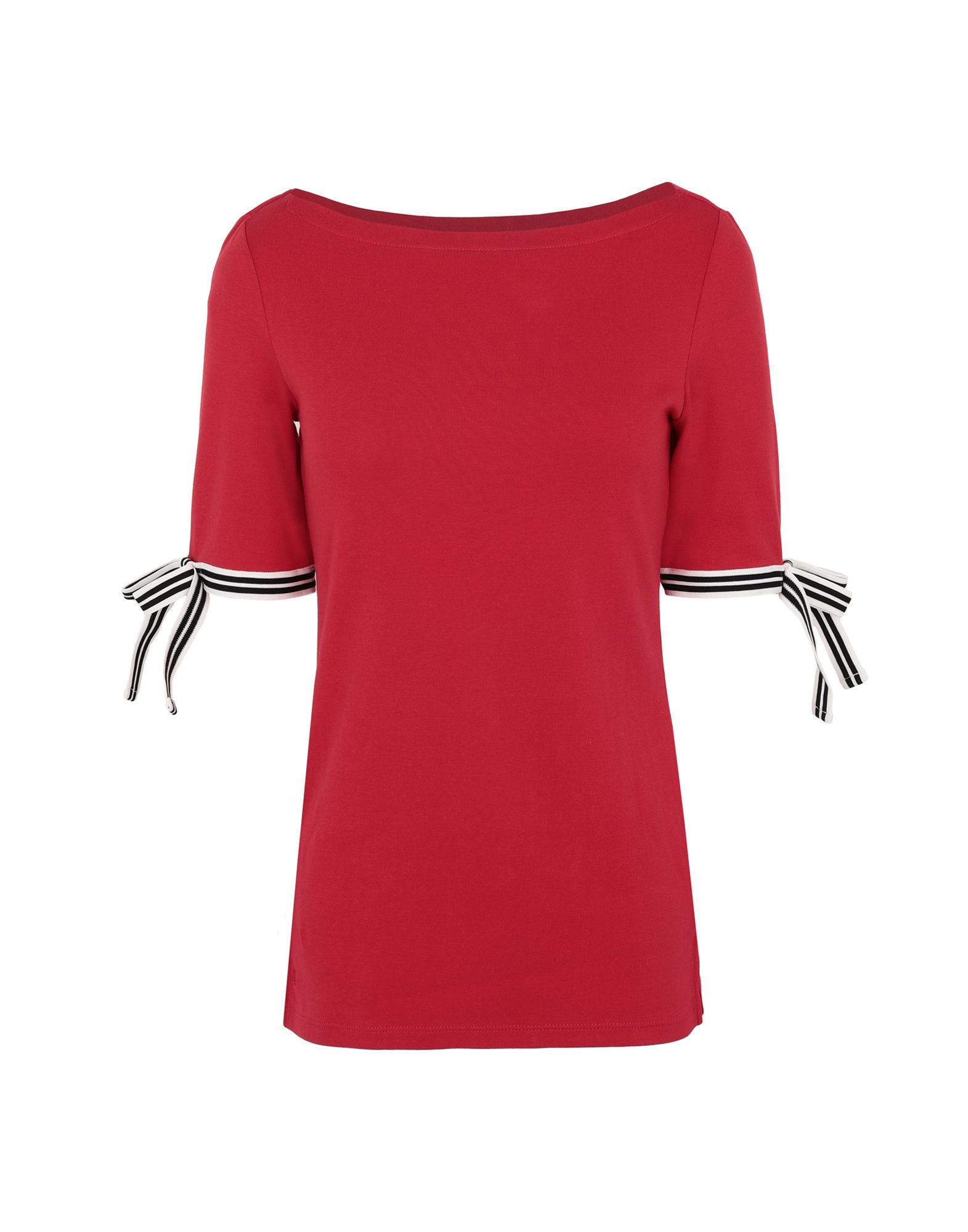 T-Shirt Lauren Ralph Lauren Laced Sleeve Sleeve Cotton Tee - donna - 12311295PR