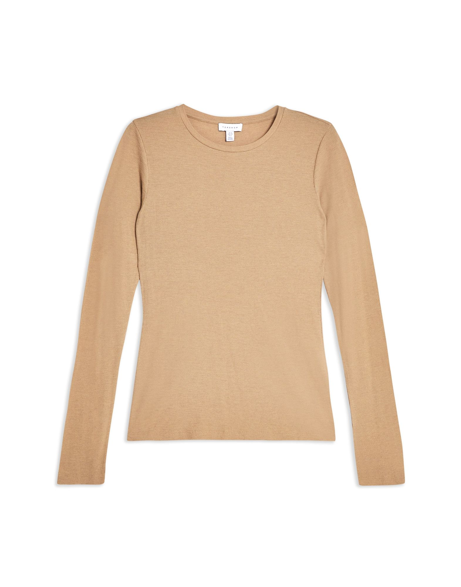 T-Shirt Topshop Boutique Long Sleeve Sleeve Sleeve Ribbed T-Shirt - donna - 12315111EE e5a