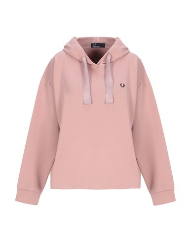 Fred Perry Hooded Sweatshirt In Pastel Pink