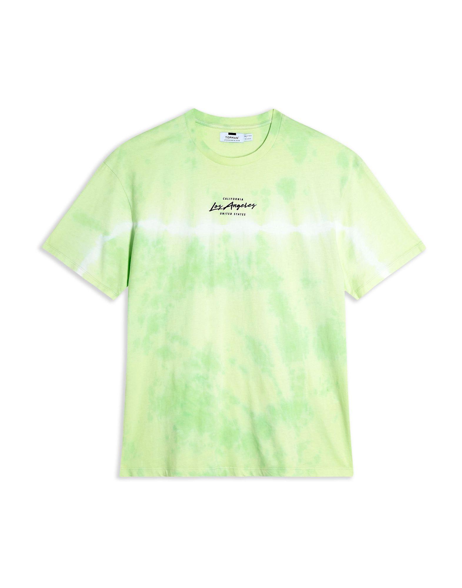T-Shirt Topman verde Tie Dye 'La' T-Shirt - uomo - - - 12367424PW 88c