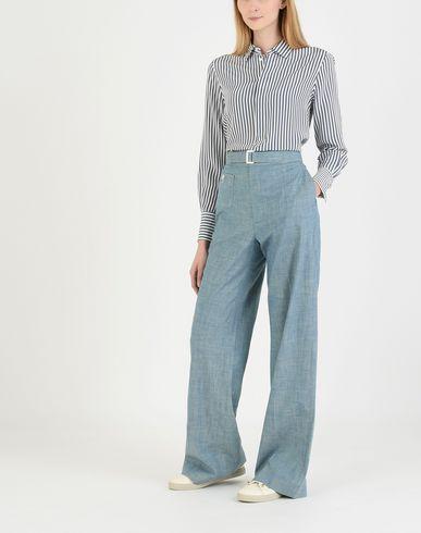 Polo Ralph Lauren Chambray Wide-leg Bukse Pantalon klaring profesjonell z9VTeknAm3