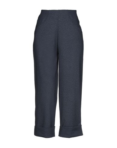 PIERRE MANTOUX Cropped Pants & Culottes in Dark Blue