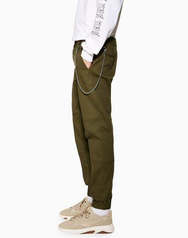 cheap Topman Khaki Joggers With Chain - Casual Pants - Men Topman Casual Pants online Men Clothing k9BQuGdm