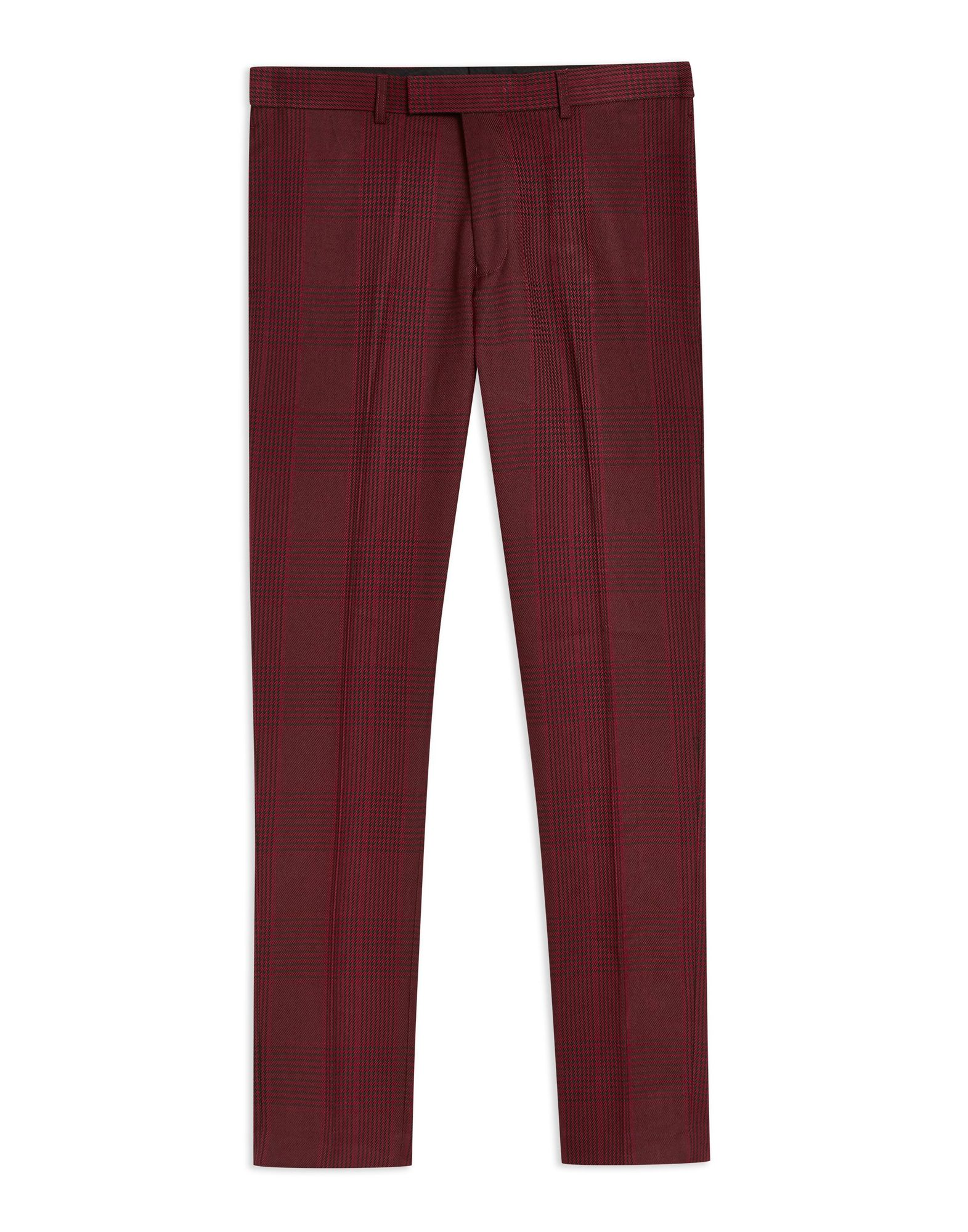 nos Topman rosso Check Skinny Trousers Trousers Trousers - uomo - 13313566QH 498