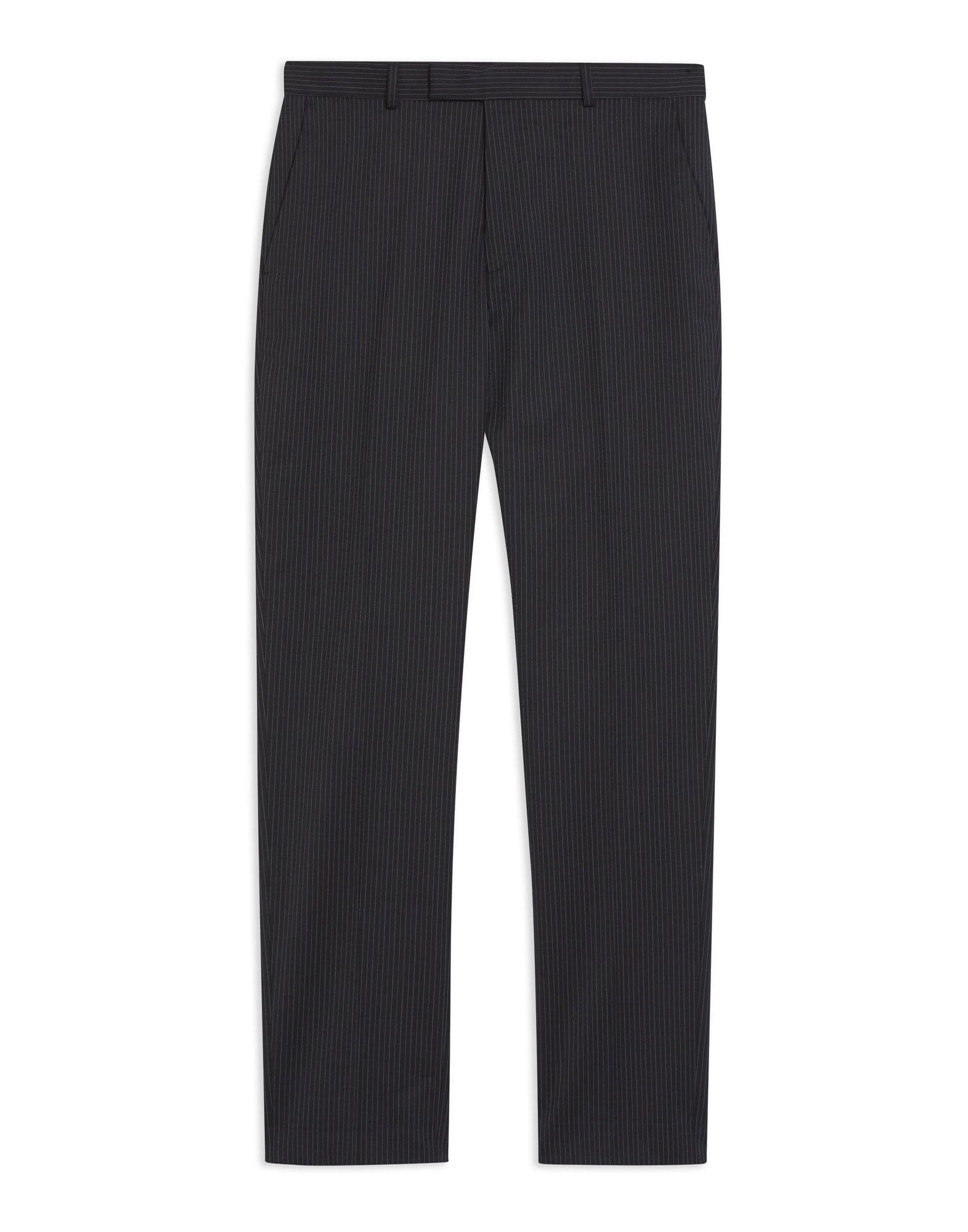 Pantalone Topman Premium Navy Pinstripe Slim Trousers - herren - 13359435FJ
