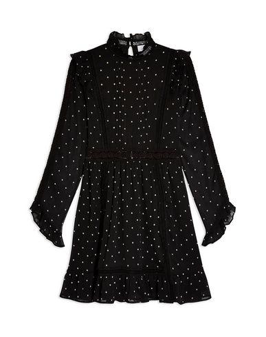 TOPSHOP Dobby Spot Mini Dress